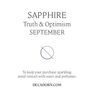 Birthstone Hoop Earrings - SEPTEMBER, Sapphire - Decadorn