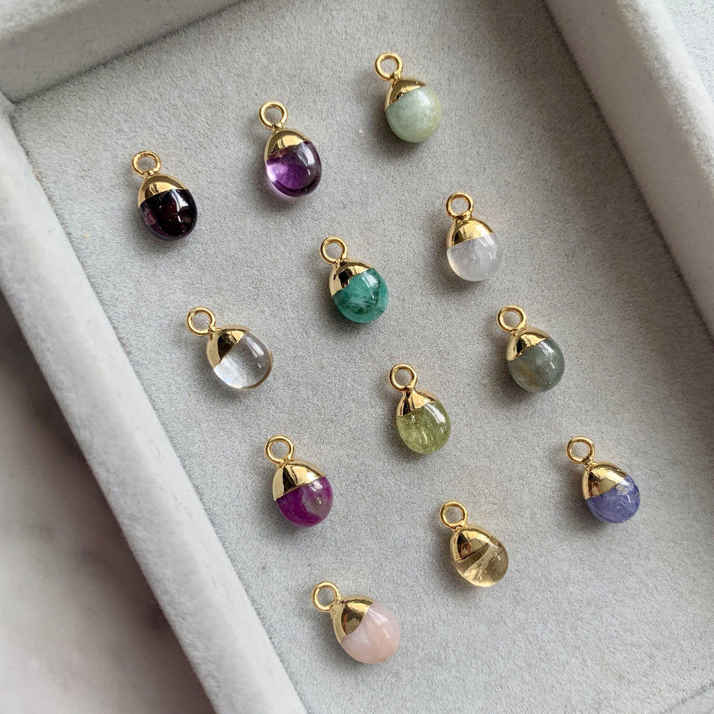 Additional Stone - Tiny Tumbled Birthstone (Gold Plated) - Decadorn