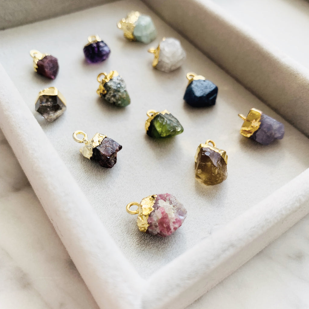 Additional Birthstone  - Small Raw - (Gold Plated) - Decadorn