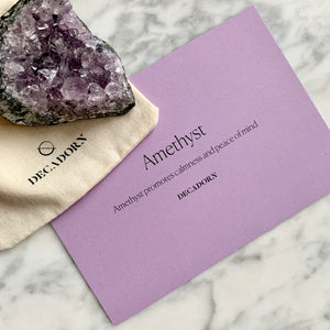 Crystal - Amethyst (Calming) - Decadorn