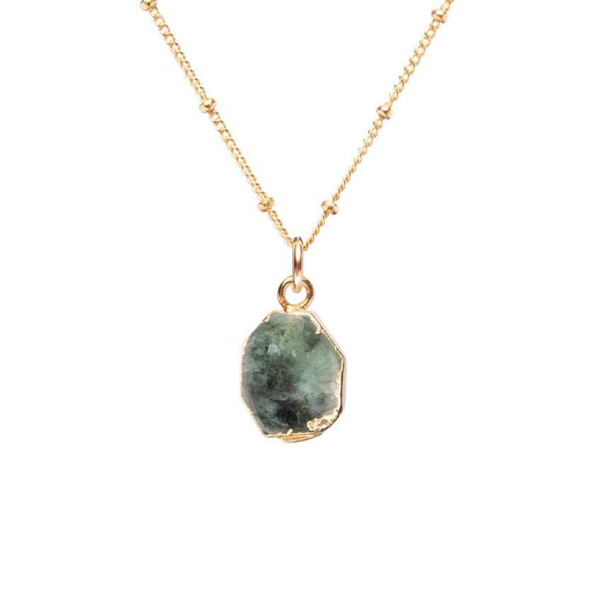 Gem Slice Necklace - Emerald - Decadorn