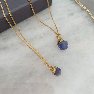 Birthstone Necklace - DECEMBER, Tanzanite - Decadorn