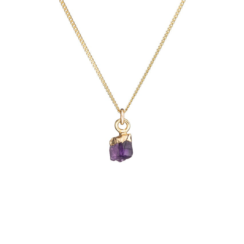 Birthstone Necklace - FEBRUARY, Amethyst