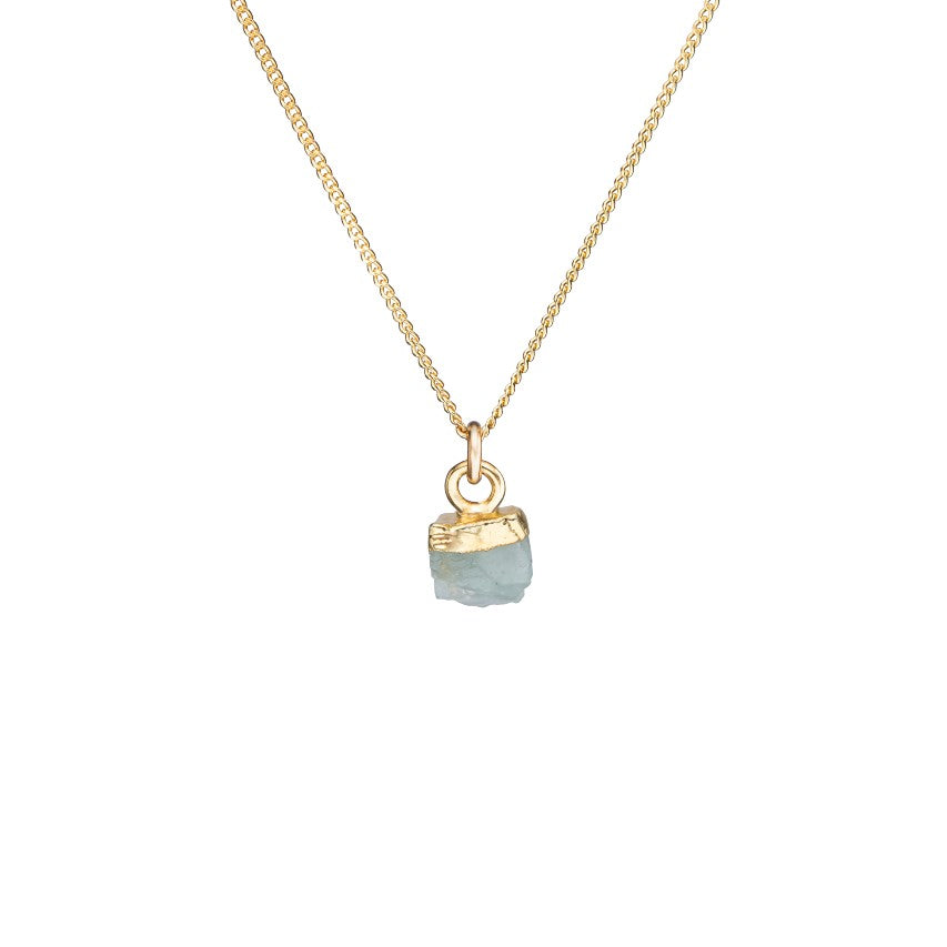 Birthstone Necklace - MARCH, Aquamarine - Decadorn