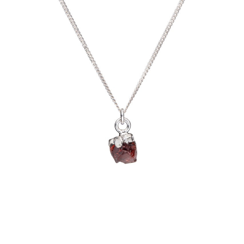 Birthstone Necklace - Sterling Silver - JANUARY, Garnet - Decadorn