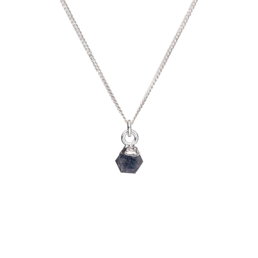 Birthstone Necklace - Silver - SEPTEMBER, Sapphire - Decadorn