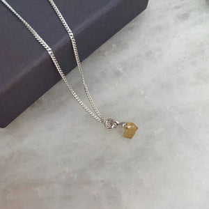 Birthstone Necklace - Silver - NOVEMBER, Citrine - Decadorn