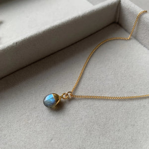Tiny Tumbled Gemstone Necklace - Labradorite (Adventure)(Pre order for end April delivery) - Decadorn
