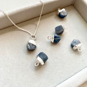 Birthstone Necklace - Sterling Silver - SEPTEMBER, Sapphire - Decadorn