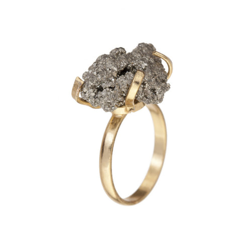 Cluster Pyrite Ring - Decadorn