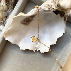 Sea Pearl & Coin Necklace - Decadorn