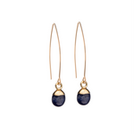 Tiny Tumbled Gemstone Dropper Earrings - Sodalite (Inspiration) - Decadorn