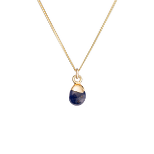 Tiny Tumbled Gemstone Necklace - Sodalite (Inspiration) - Decadorn