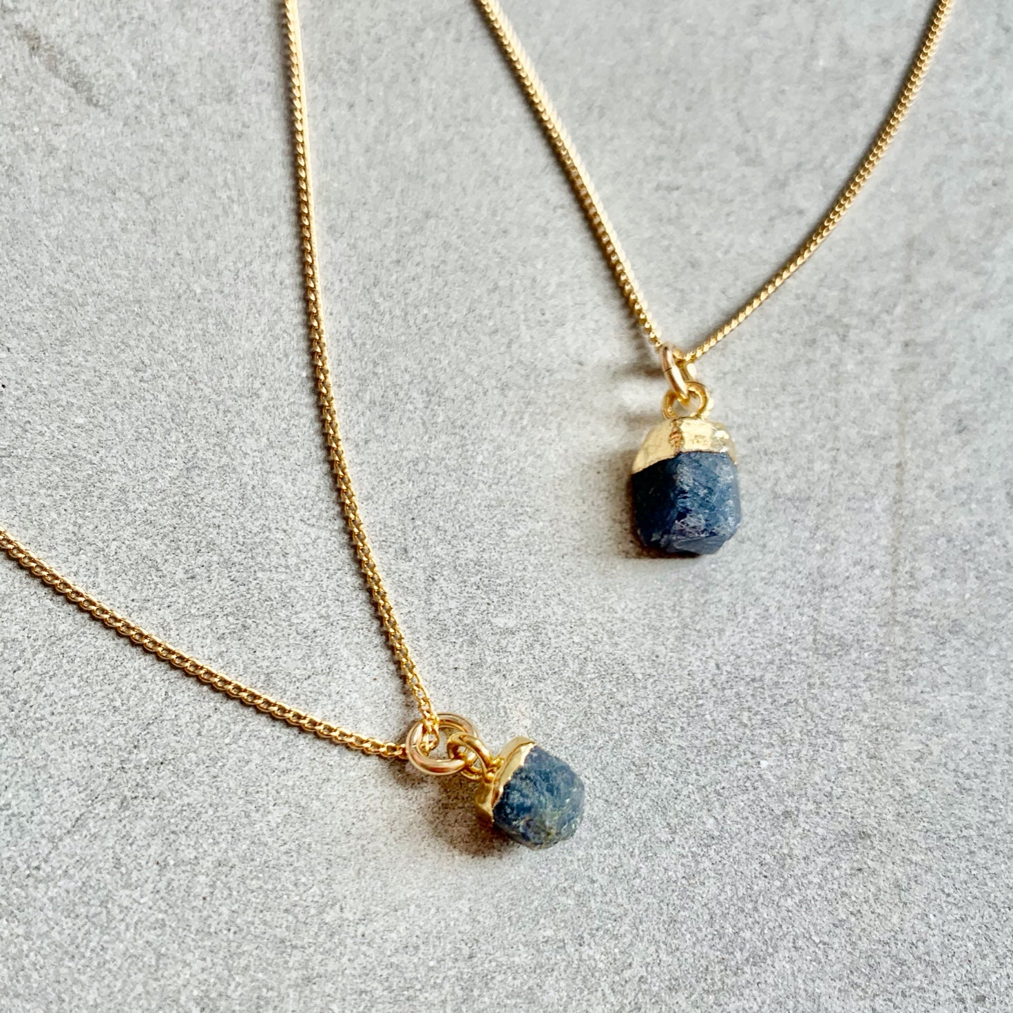 Birthstone Necklace - SEPTEMBER, Sapphire - Decadorn