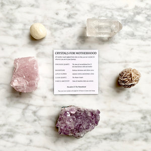 Crystal Wellbeing Kit - Crystals for Motherhood (Pre Order for Mid Feb delivery) - Decadorn