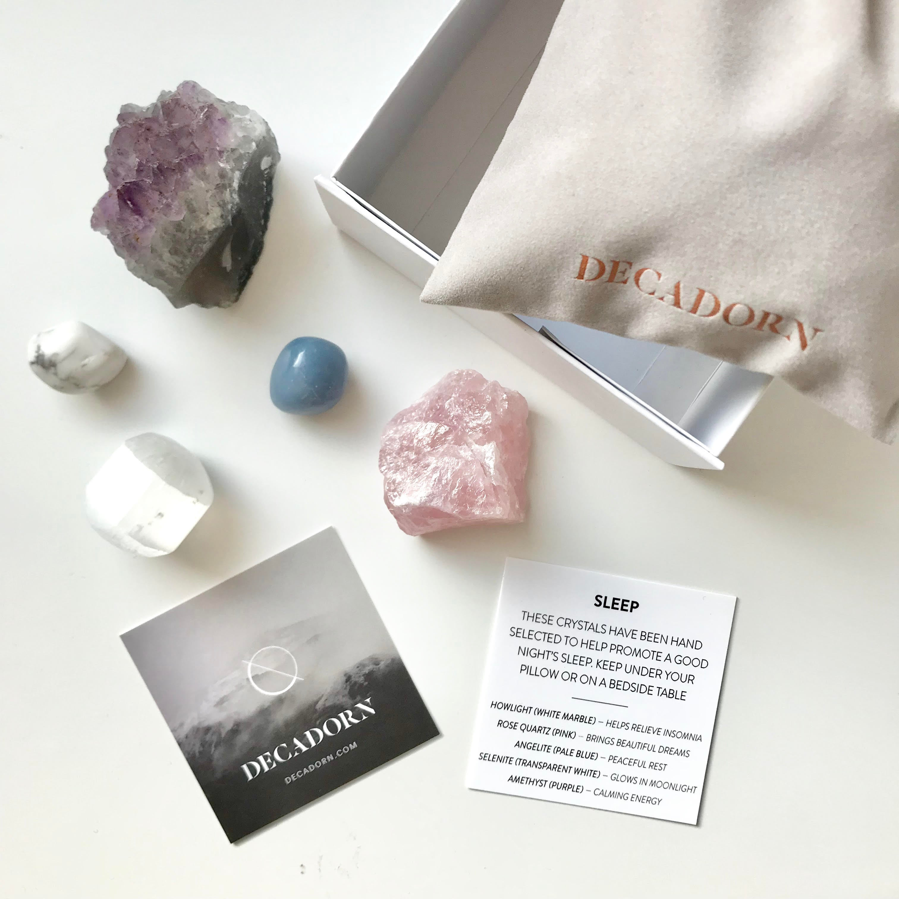 Crystal Wellbeing Kit - Sleep & Dream - Decadorn
