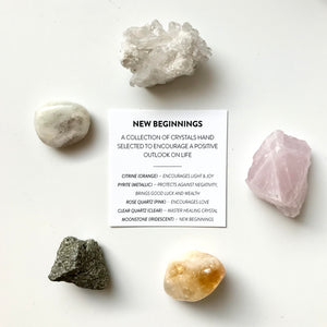 Crystal Wellbeing Kit - New Beginnings - Decadorn