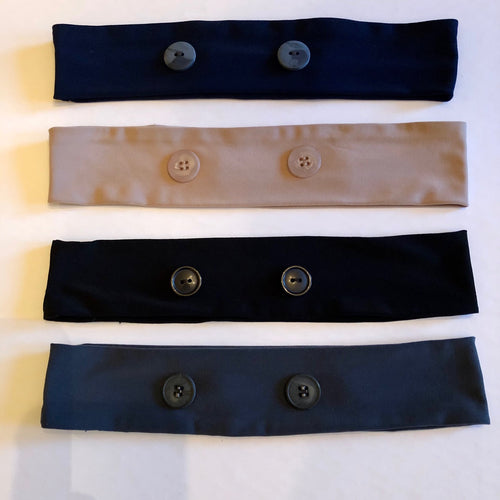 Head Band with Buttons to reduce Ear Fatigue - Face Mask Love