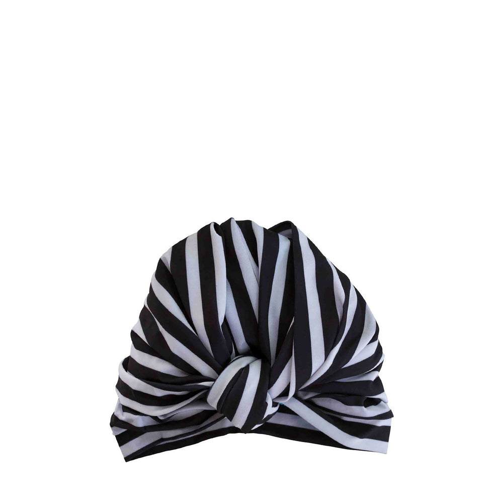 Dahlia Shower Cap in Monochrome Stripe