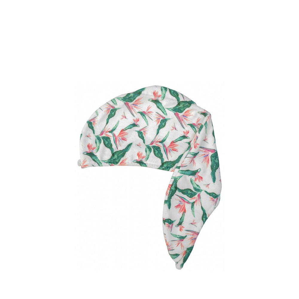 RIVA Hair Towel Wrap in Hawaiian Bird of Paradise