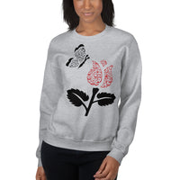 Women's Sweatshirt with Rose and butterfly - Shaggaggy