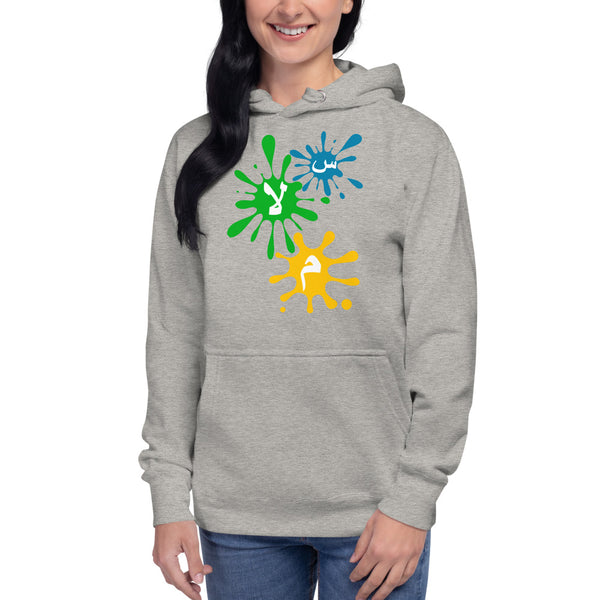 women's Hoodie with splash of peace (س.لا.م) - Shaggaggy