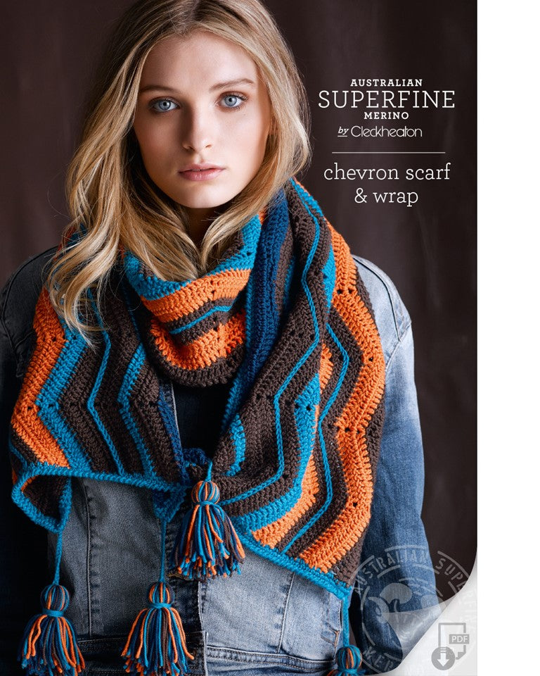 Cleckheaton Chevron Scarf and Wrap