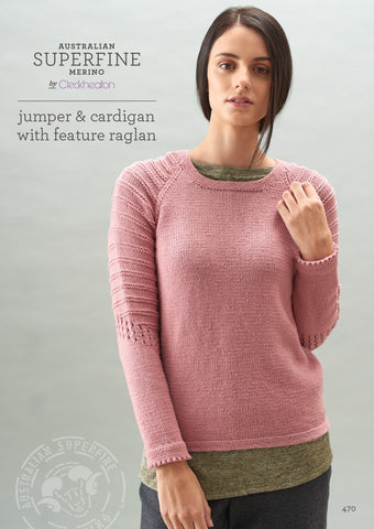 Cleckheaton Jumper and Cardigan with Featured Raglan