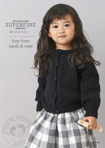 Cleckheaton Tiny Bow Cardi and Vest