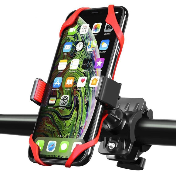 Bike & Motorcycle Universal Phone Mount - for iPhone 11 Pro (Xs, Xr, 8, Plus/Max), Galaxy s20 or Any Cell Phone - Molo Mart