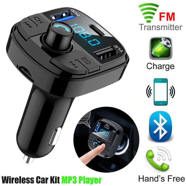 Bluetooth wireless car kit mp3 player