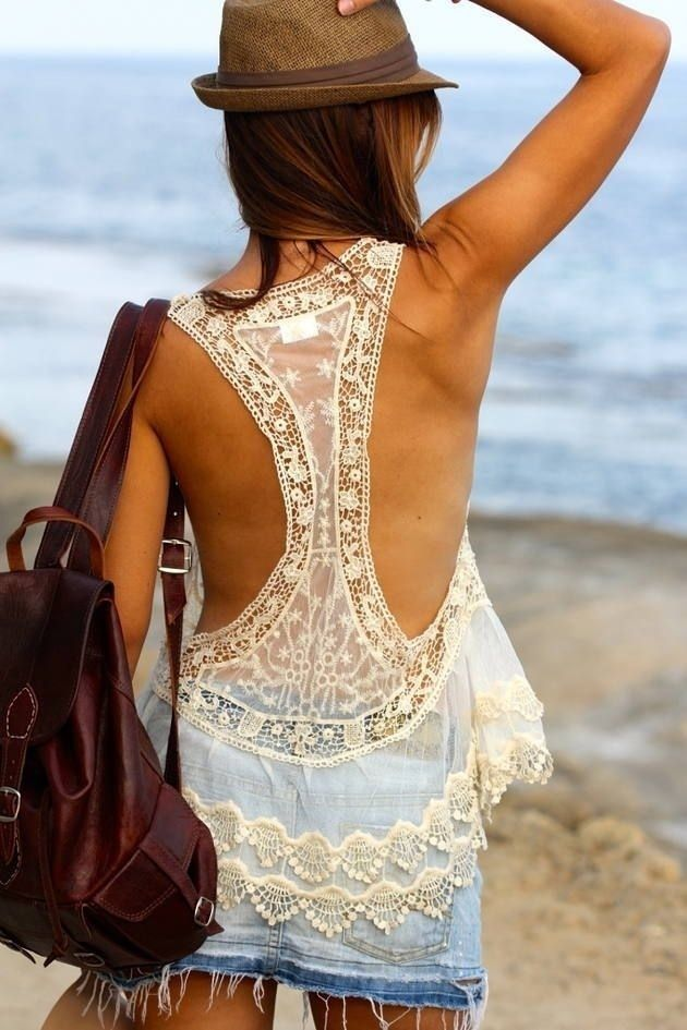 Melina's Lace Cover Up