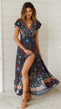 Load image into Gallery viewer, Bohemian Floral Maxi Dress