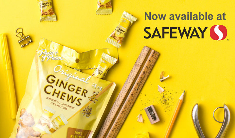 Prince of Peace Ginger Chews Now Available at Select Safeway Stores