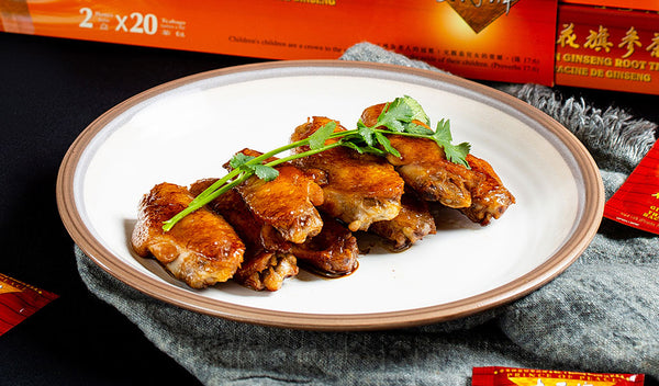 Honey Ginseng Chicken Wings