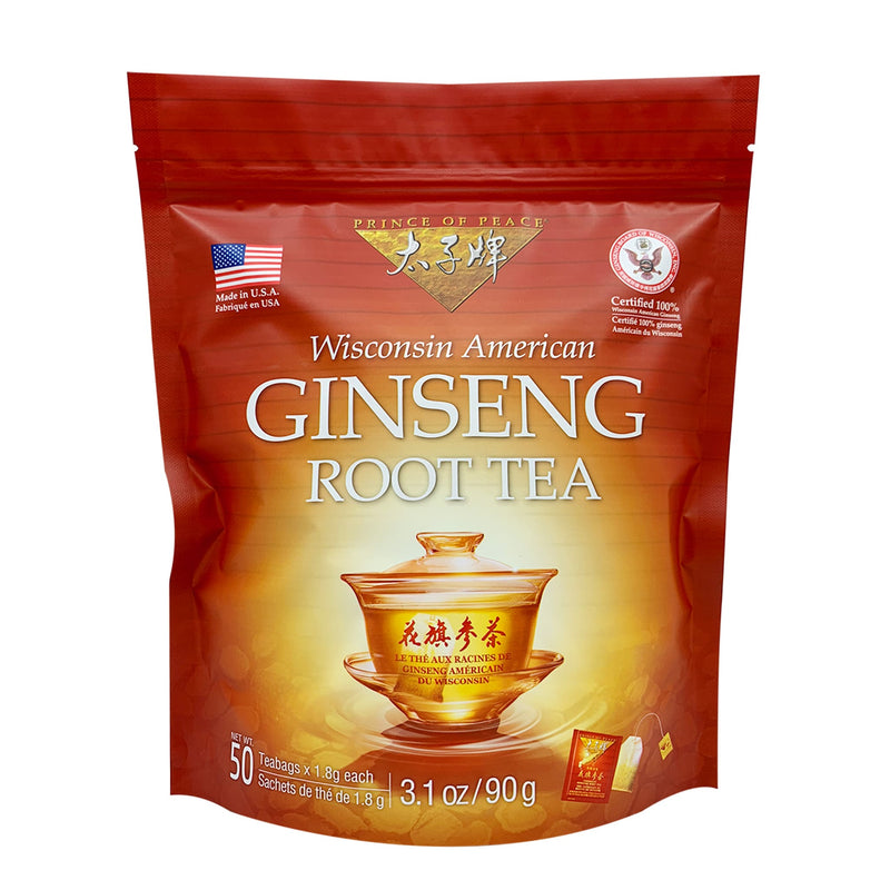 Prince of Peace American Ginseng Root Tea, 50 tea bags