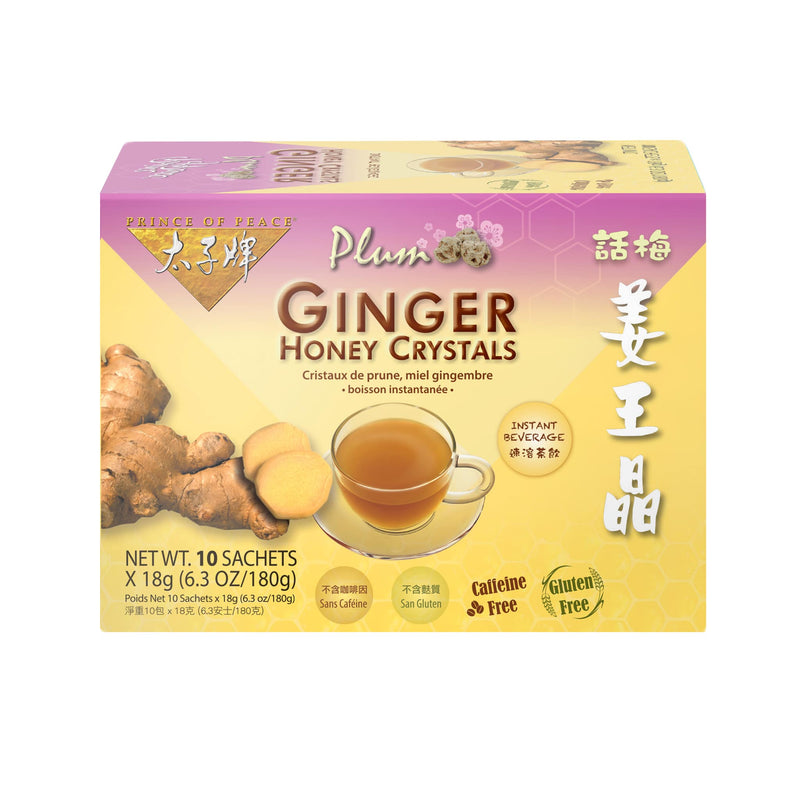 Prince of Peace Instant Plum Ginger Honey Crystals, 10 sachets