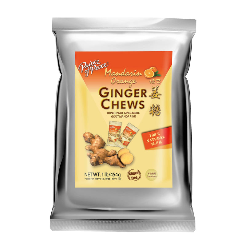 Prince of Peace Ginger Candy (Chews) With Mandarin Orange, 1lb