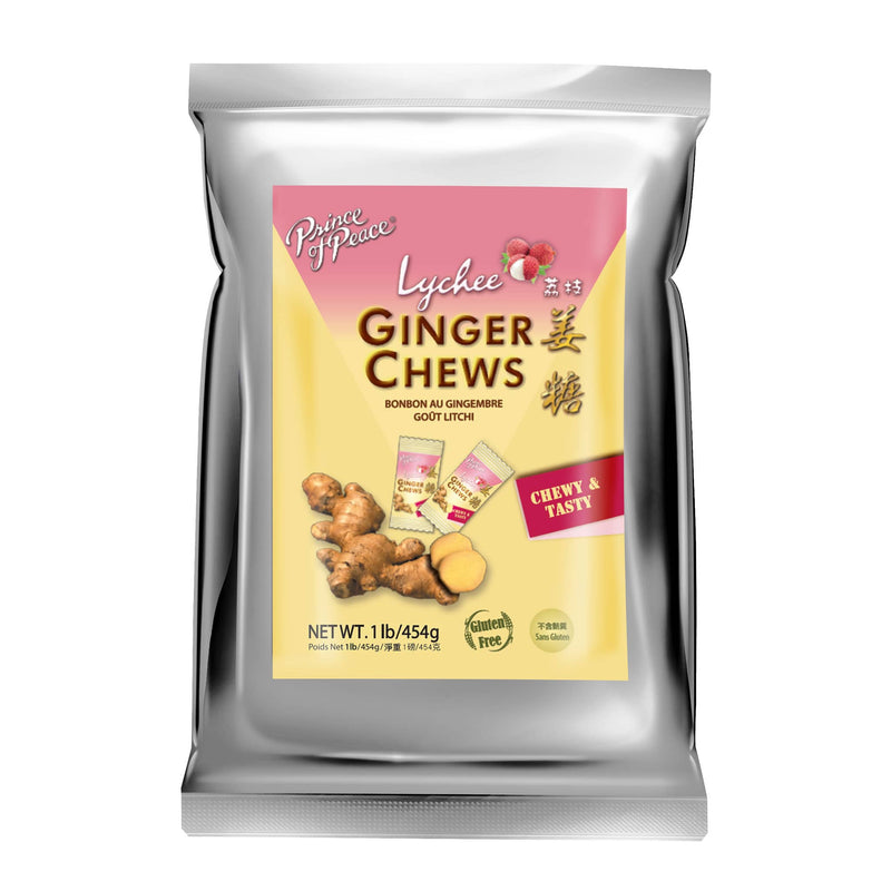 Prince of Peace Ginger Candy (Chews) With Lychee, 1lb