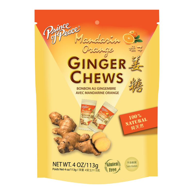 Prince of Peace Ginger Candy (Chews) With Mandarin Orange, 4 oz