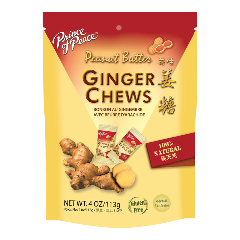 Prince of Peace Ginger Candy (Chews) With Peanut Butter, 4 oz