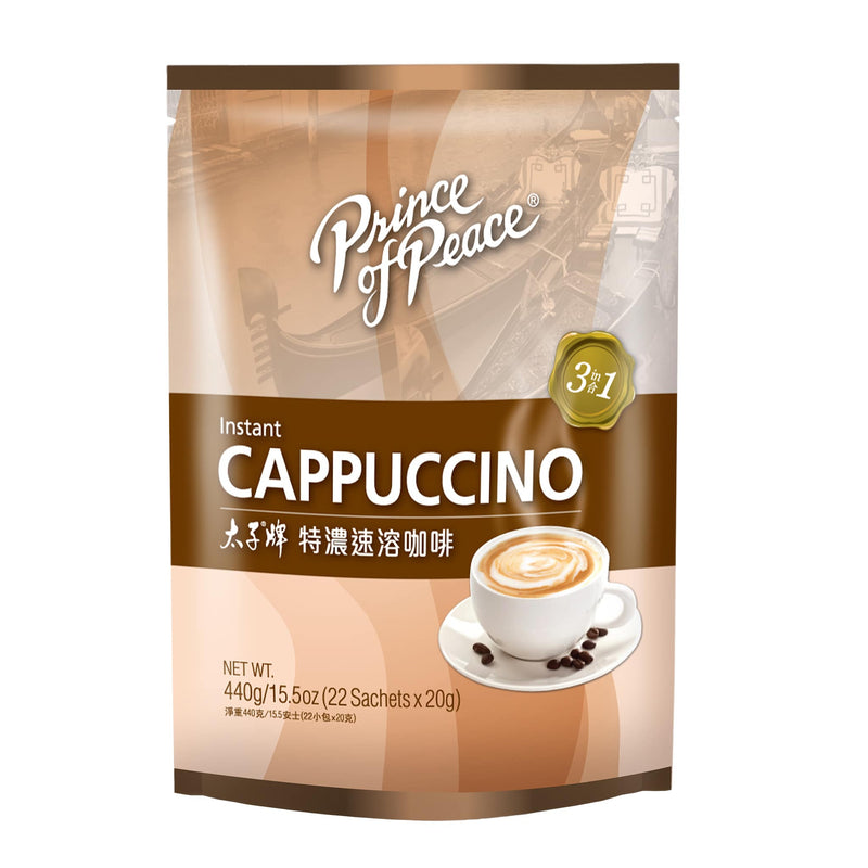 Prince of Peace 3-in-1 Instant Cappuccino, 22 sachets
