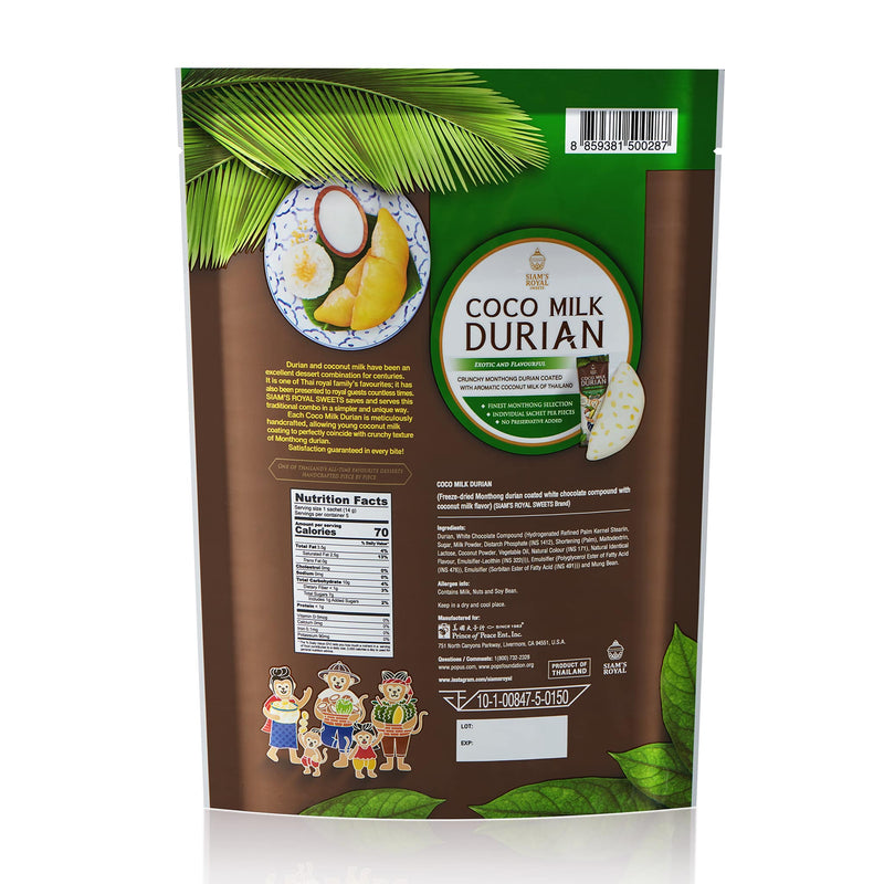 Siam's Royal Sweet Coco Milk Durian, 70g