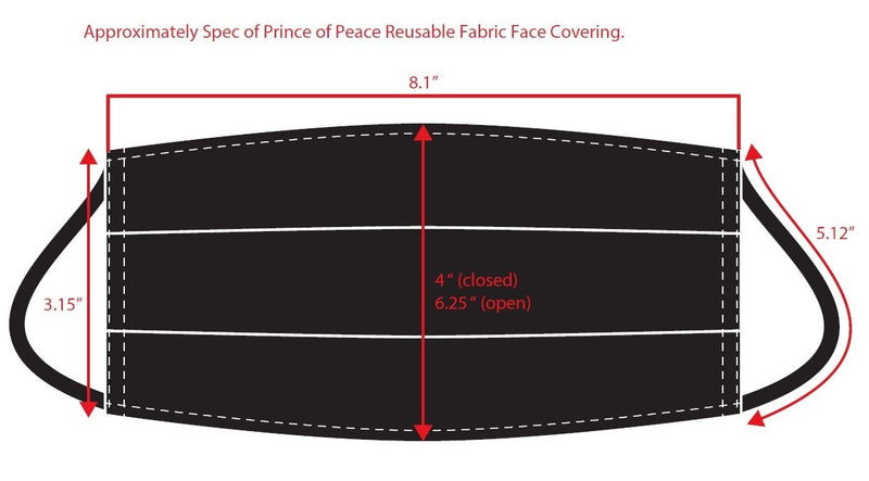 Prince of Peace Reusable Fabric Face Covering (small)