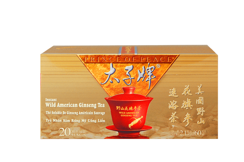 Prince of Peace Wild American Ginseng Instant Tea, 20 sachets