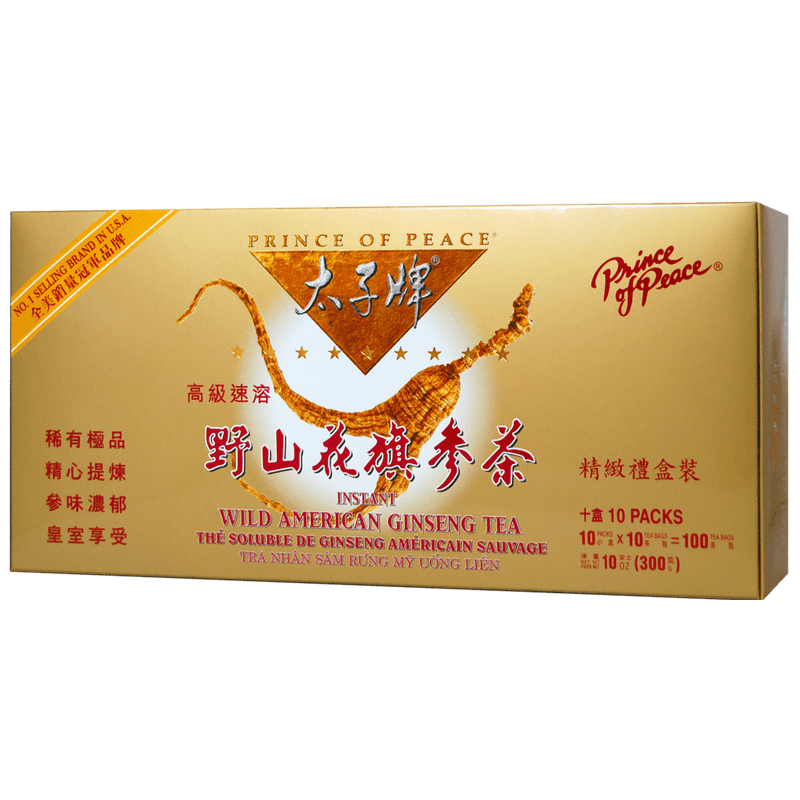 Prince of Peace Wild American Ginseng Instant Tea, 100 sachets