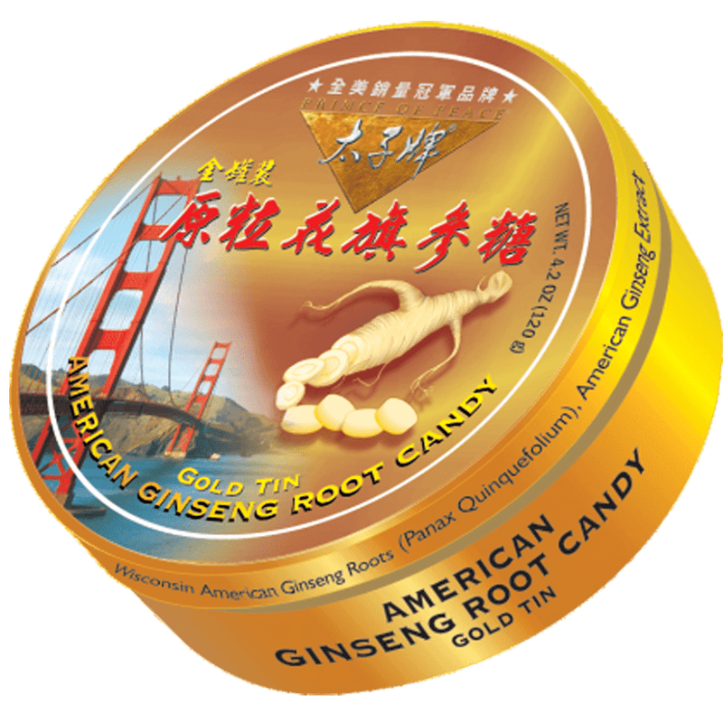 Prince of Peace American Ginseng Root Candy- Golden Gate Bridge, 120g