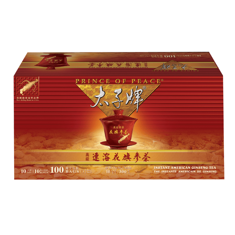 Prince of Peace American Ginseng Instant Tea, 100 sachets