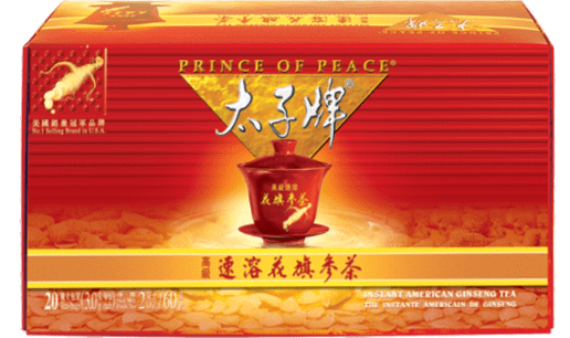Prince of Peace American Ginseng Instant Tea, 20 sachets