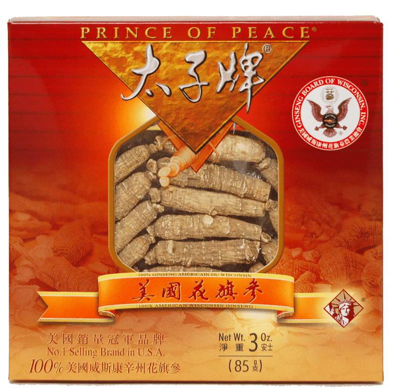 Prince of Peace Wisconsin American Ginseng Medium Short Roots, 3 oz
